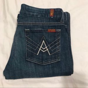 7 For All Mankind A Pocket dark wash jeans size 28
